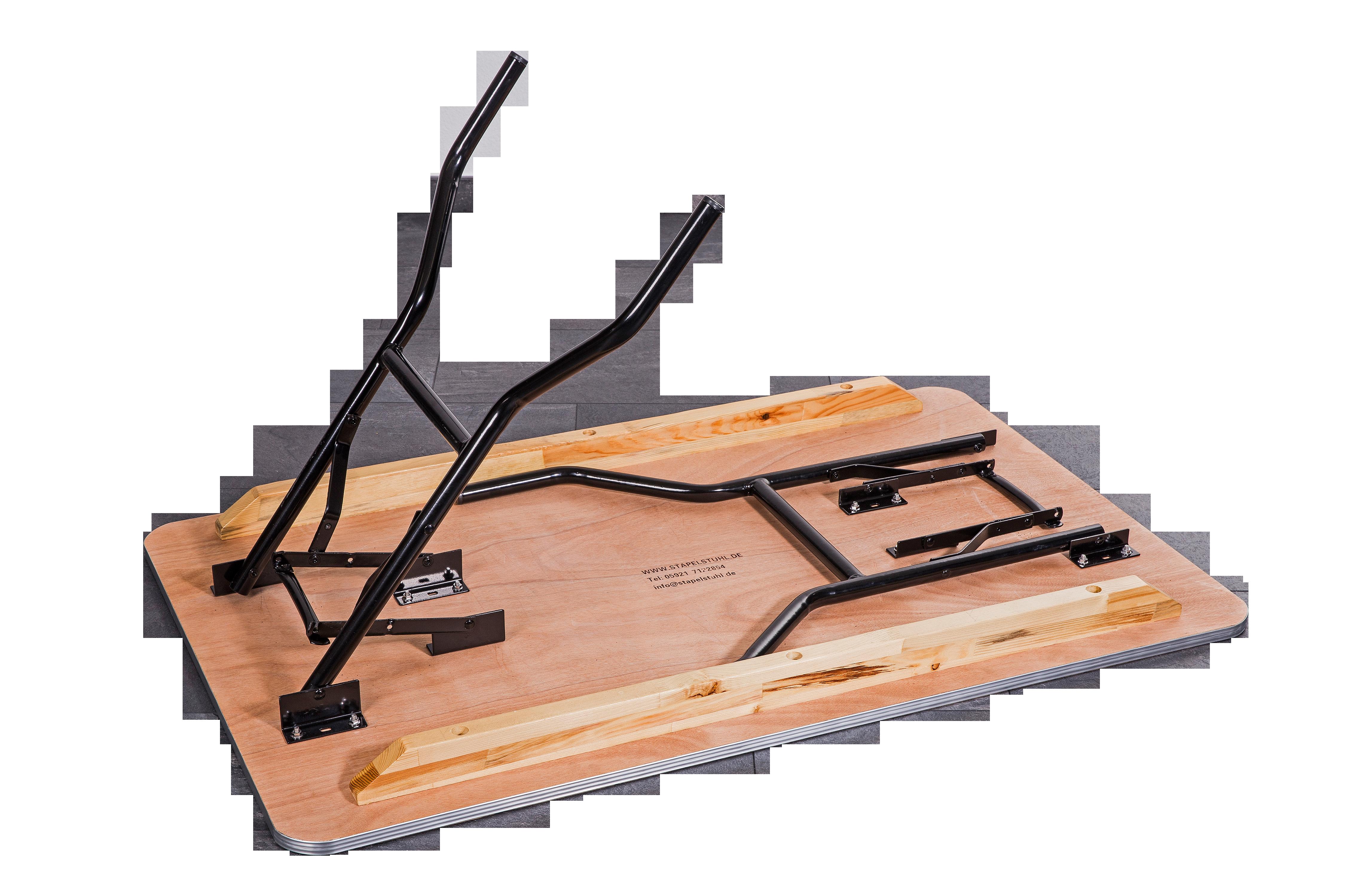 Klapptische / Banketttisch Woody eckig 153x76cm