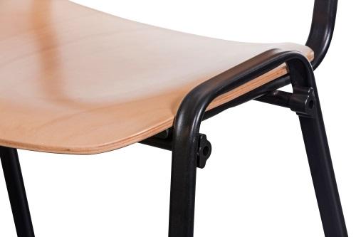 Besucherstuhl ISO Wood Brilliant Schwarz